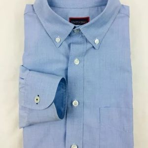 Untuckit Blue Cotton Medium Button Front EUC